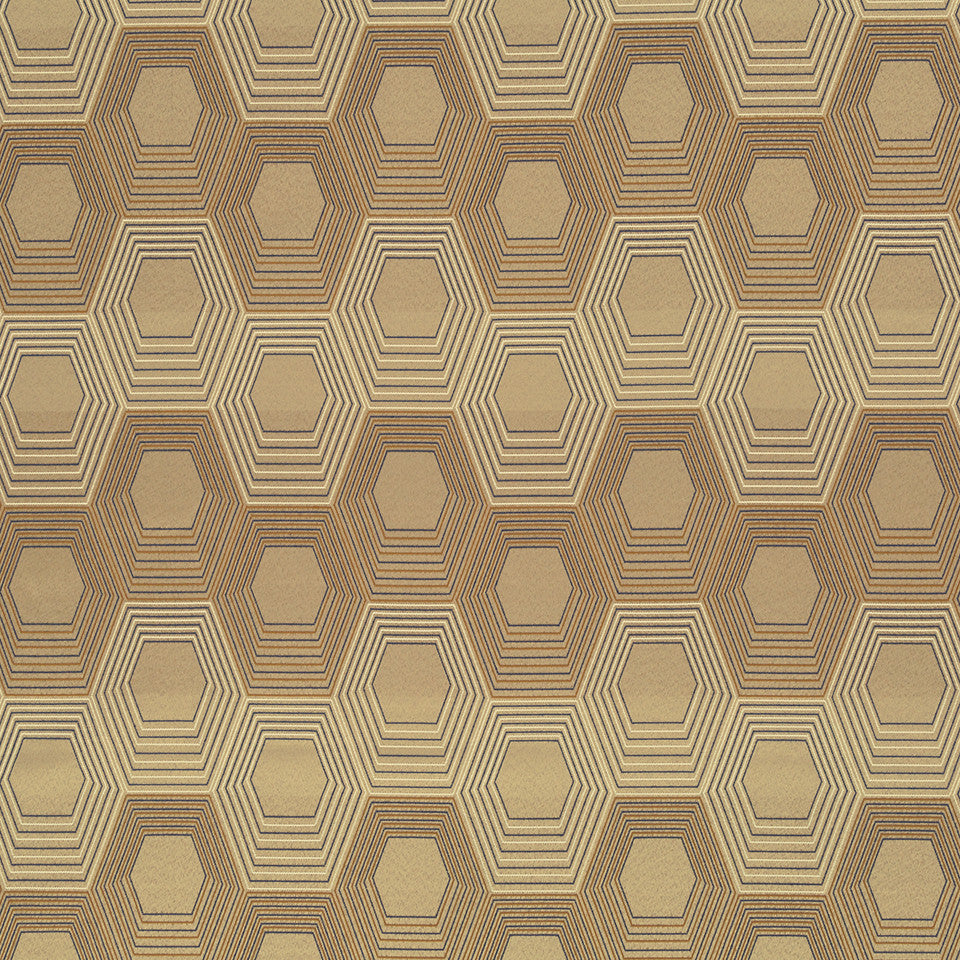 Copper-Stone-Ink Super Bee Fabric - Stone