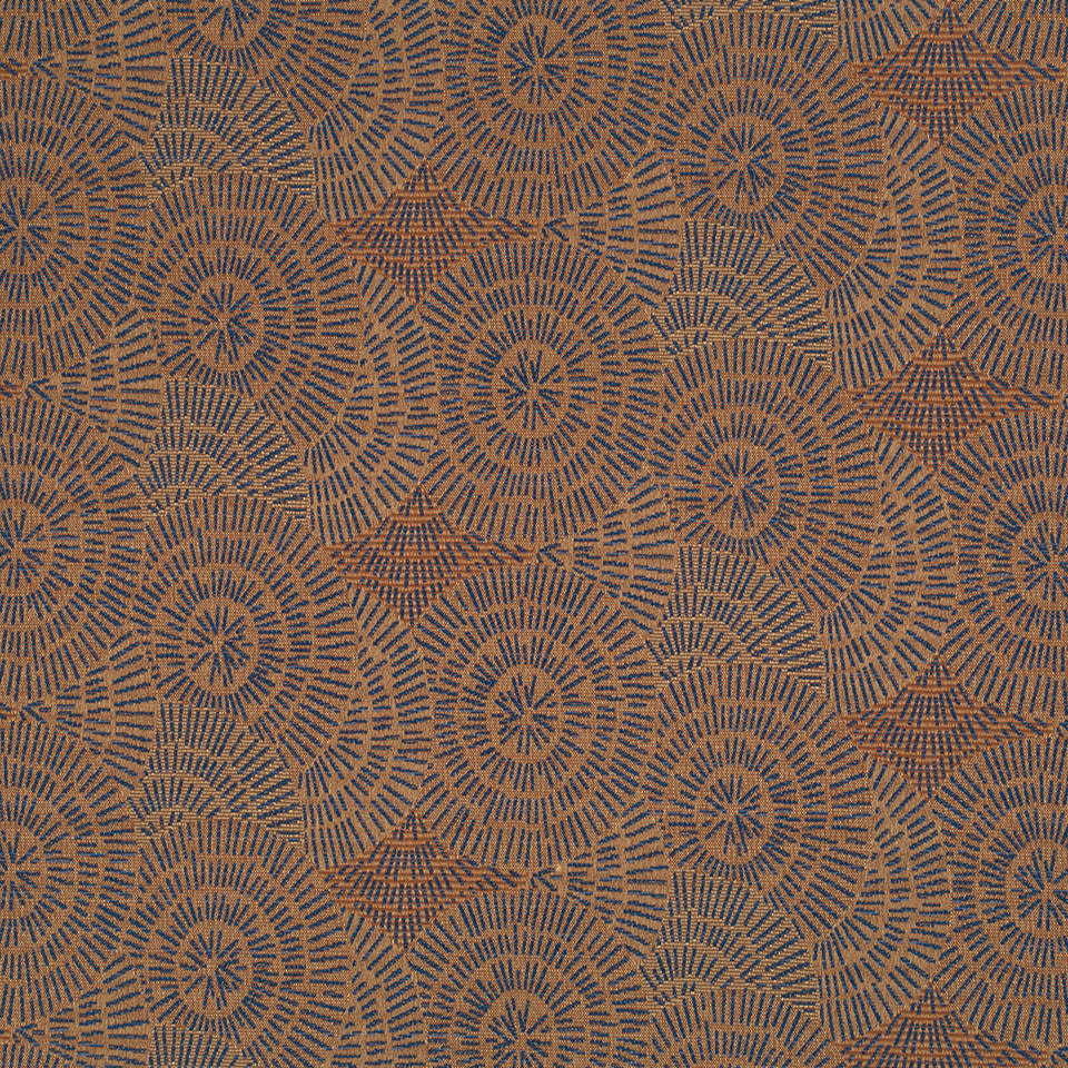 Copper-Stone-Ink Sun Ripple Fabric - Copper