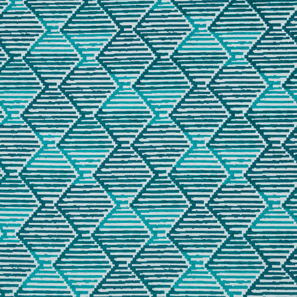 ZZOmbre Step Bk Fabric - Turquoise