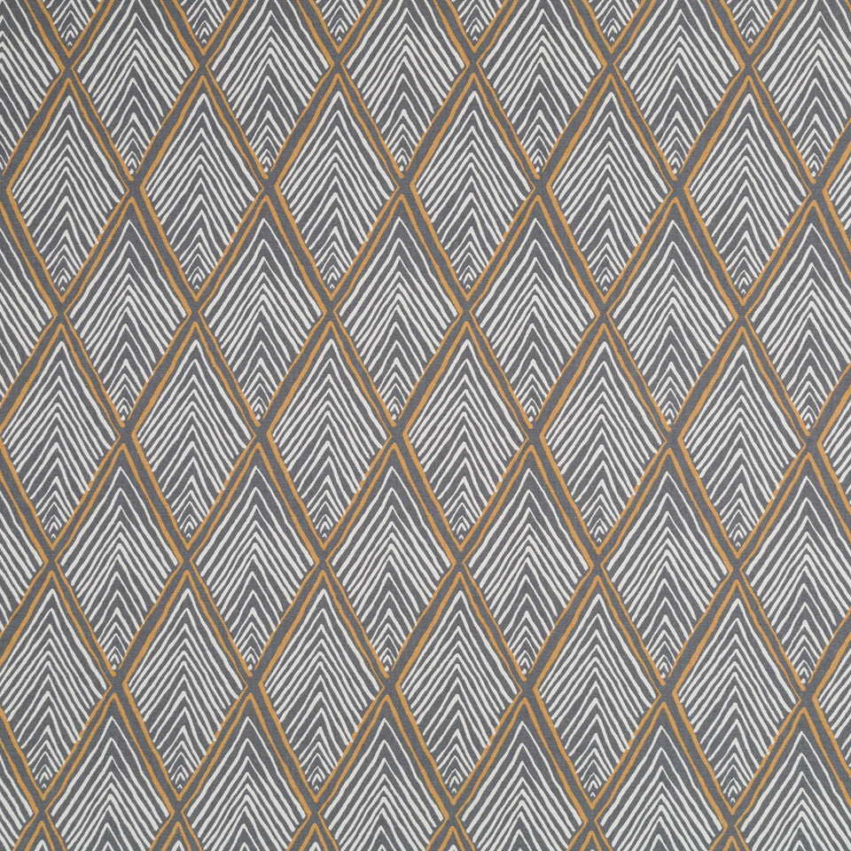 Rhombi Forms Fabric - Greystone