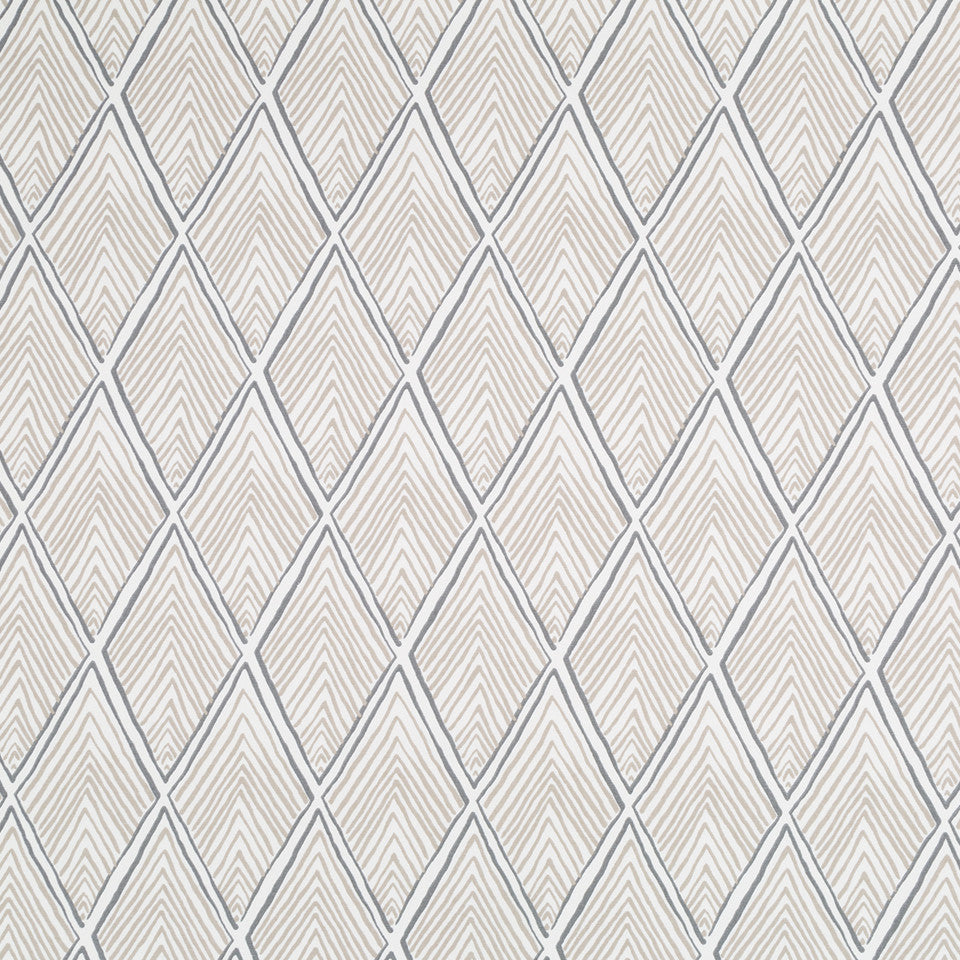 Rhombi Forms Fabric - Linen