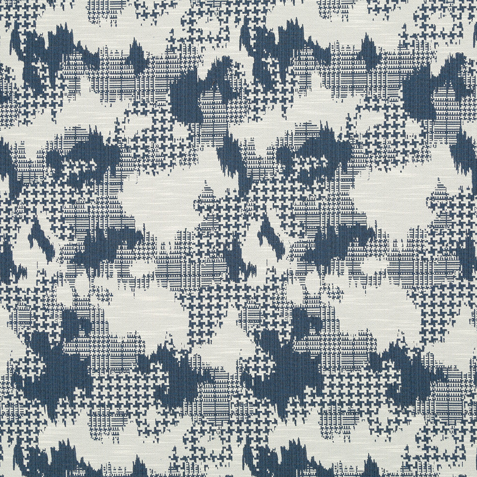 Plaid World Fabric - Indigo