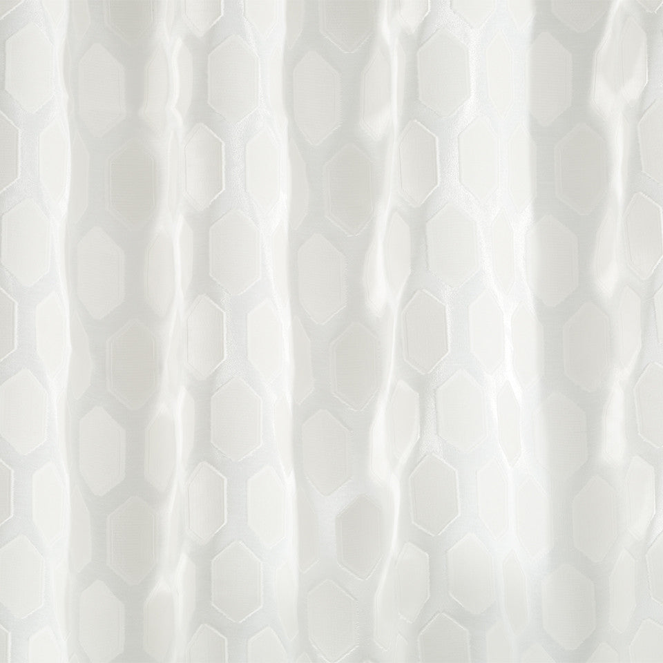 Patterned Sheers Obelisk Fabric - Glacier
