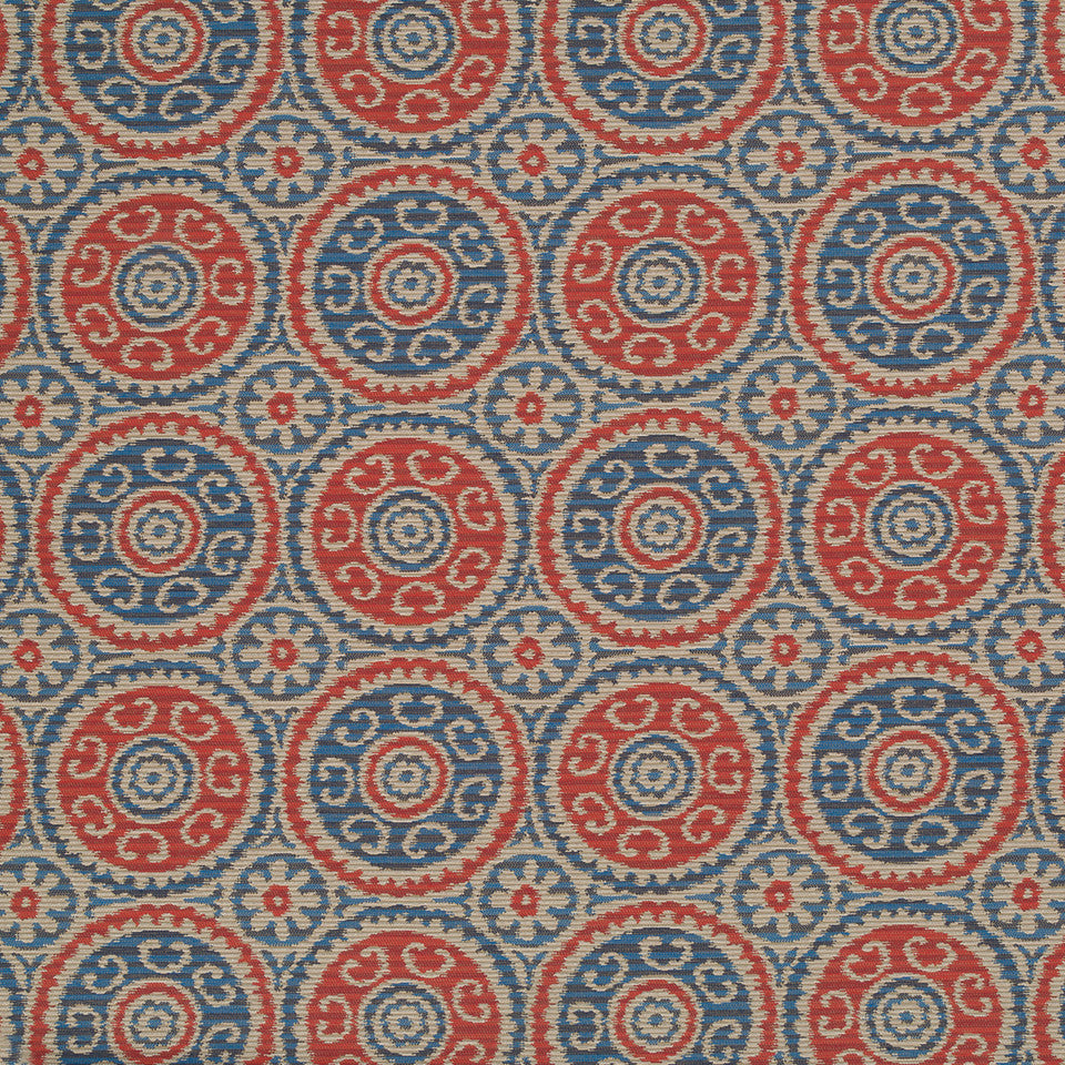 Copper-Stone-Ink Peer Suzani Fabric - Ink
