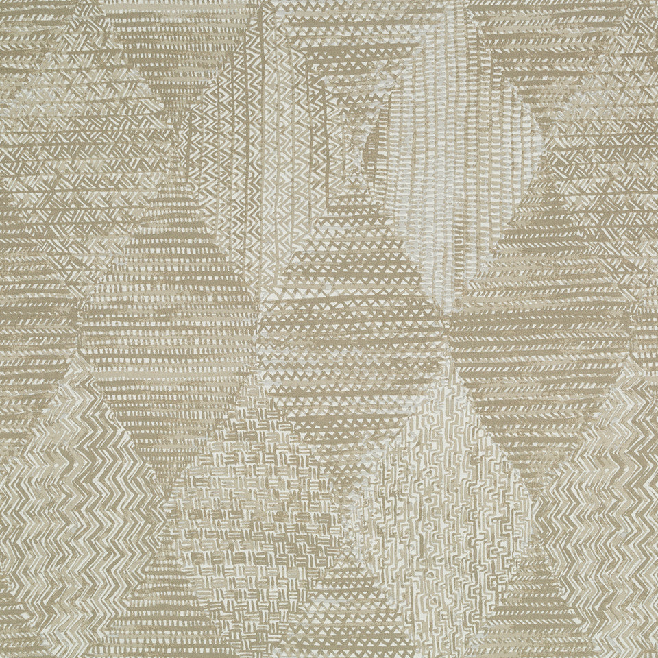 Decorative Drapery Warm Colors Doodlebug Fabric - Sandstone