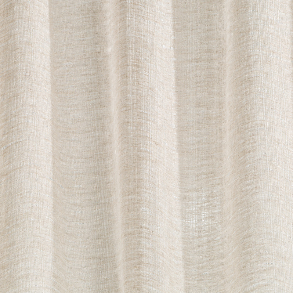 Patterned Sheers Lino Strie Fabric - Driftwood