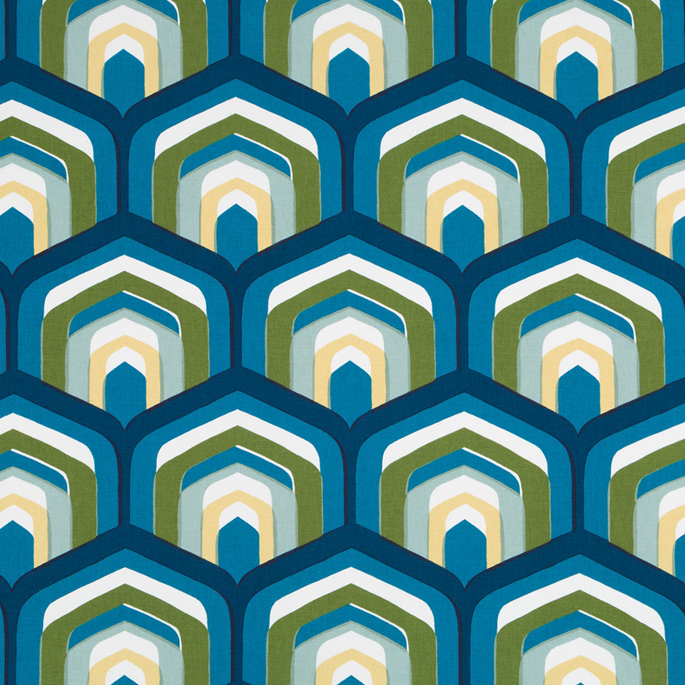 Piston Geo Fabric - Turquoise