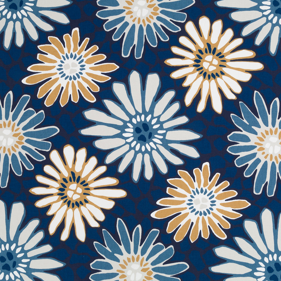 Tactile Flora Fabric - Indigo