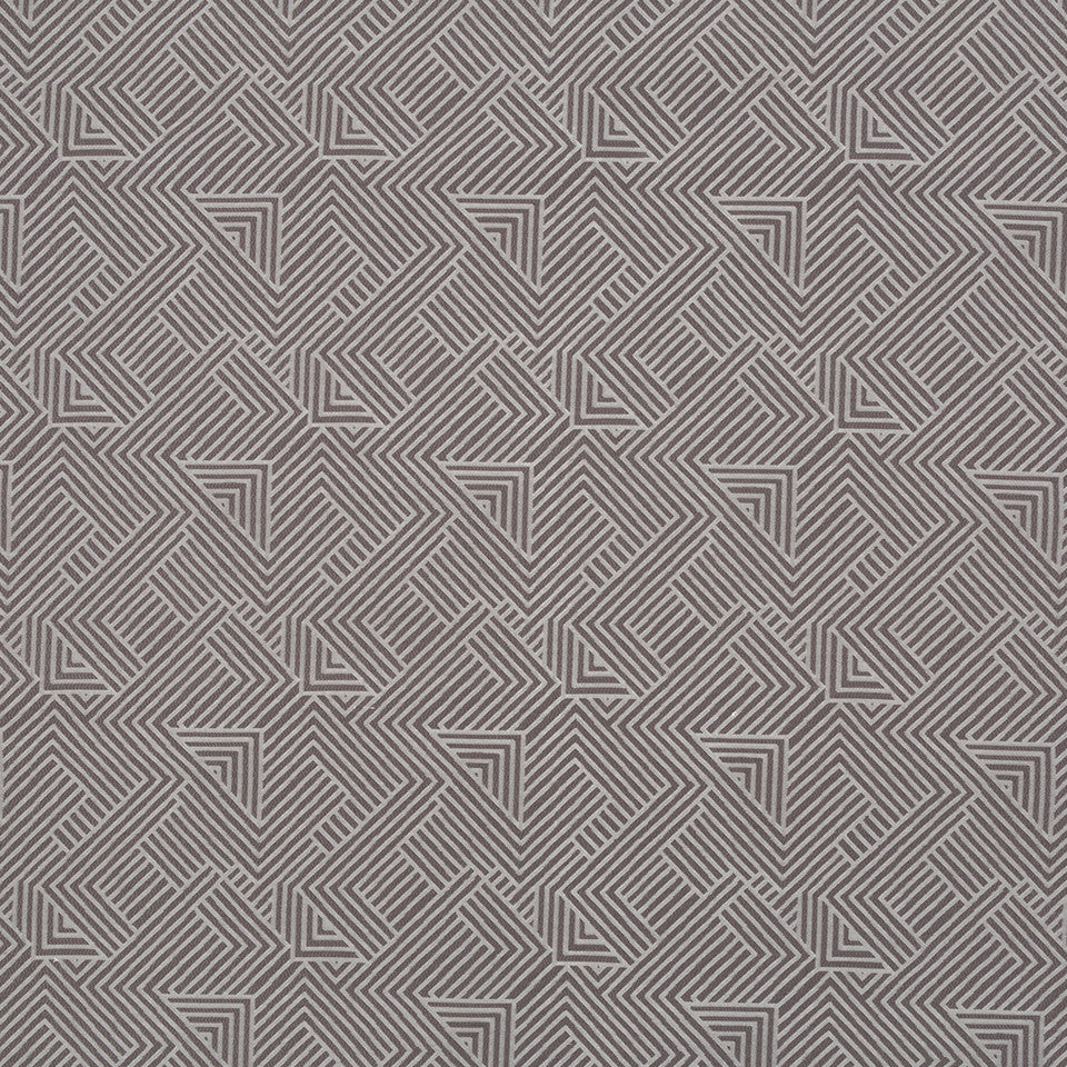 Folded Maze Bk Fabric - Charcoal