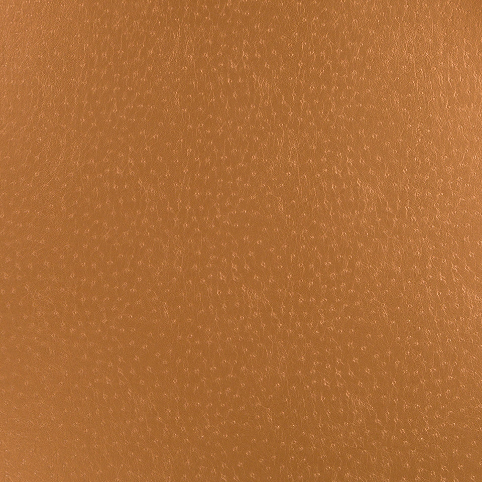 Faux Leather Textures Glossy Emu Fabric - Copper