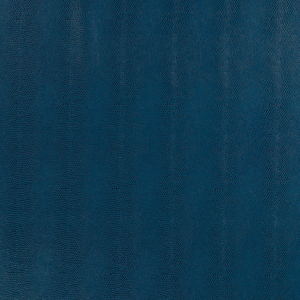 Faux Leather Textures Sleek Cobra Fabric - Batik Blue