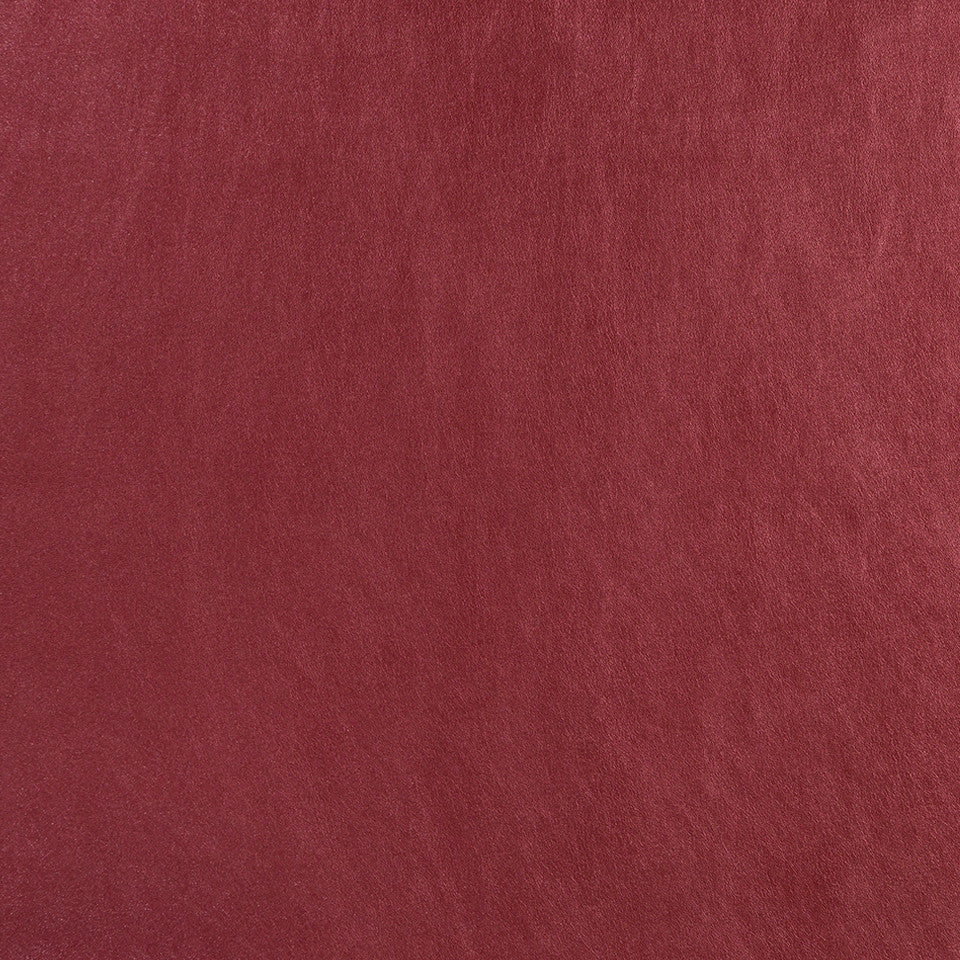 Faux Leather Textures Glazed Hide Fabric - Cassis