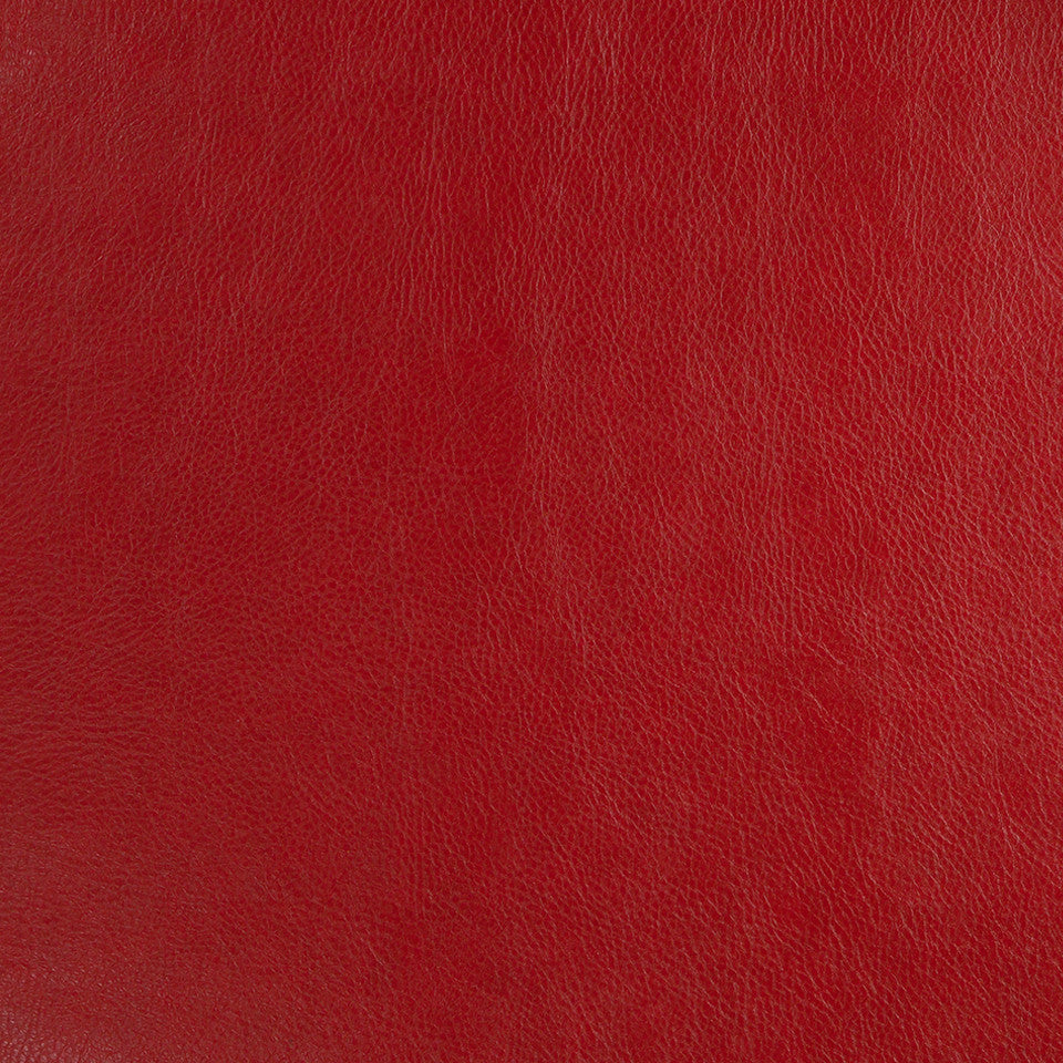 Faux Leather Textures Classic Hide Fabric - Classic Crimson