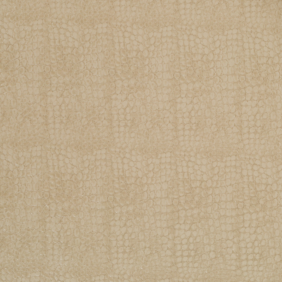 Faux Leather Textures Smooth Croc Fabric - Driftwood