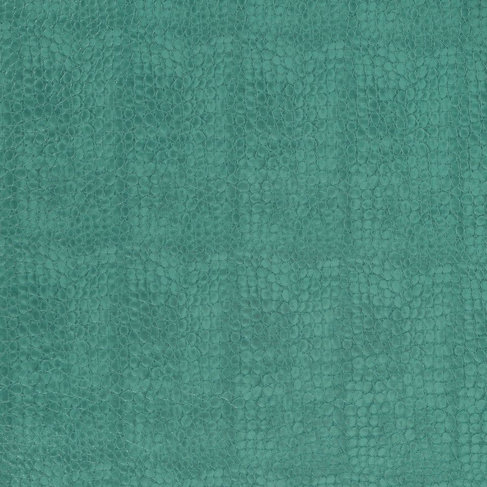 Faux Leather Textures Smooth Croc Fabric - Viridian