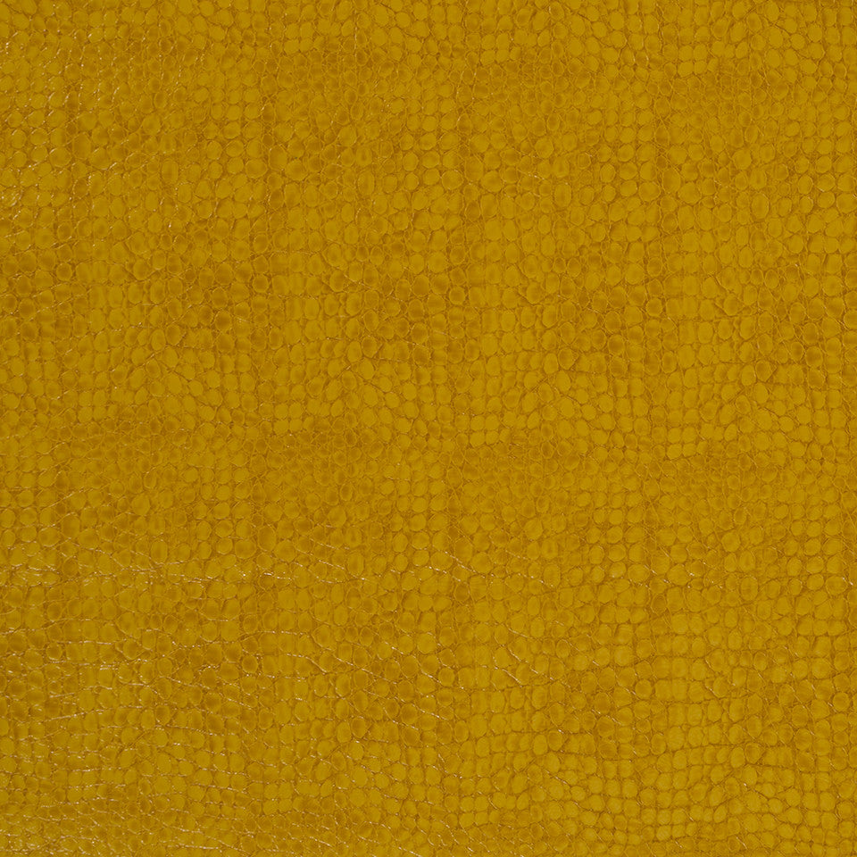 Faux Leather Textures Smooth Croc Fabric - Zest