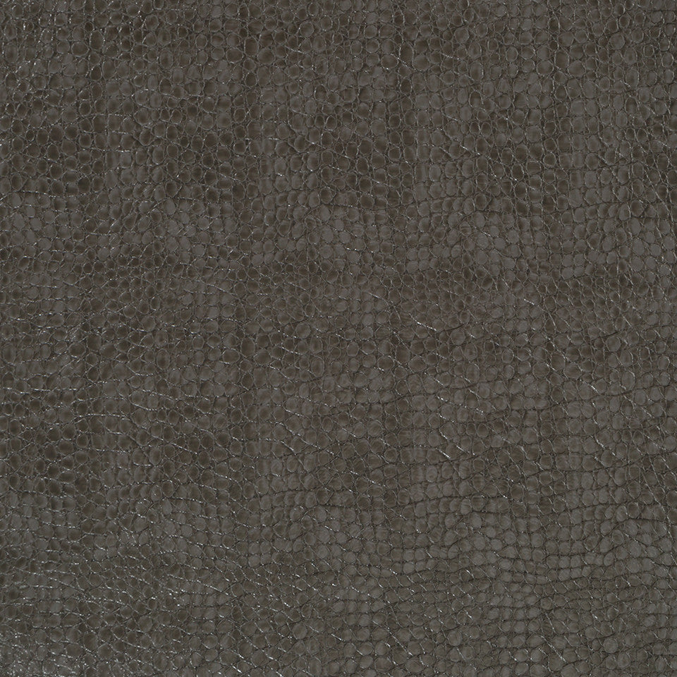 Faux Leather Textures Smooth Croc Fabric - Graphite