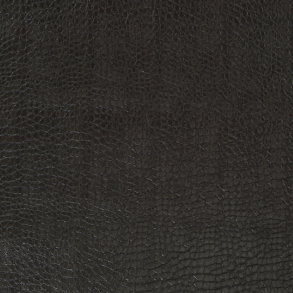 Faux Leather Textures Smooth Croc Fabric - Chalkboard