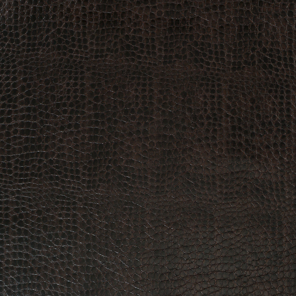 Faux Leather Textures Smooth Croc Fabric - Mink