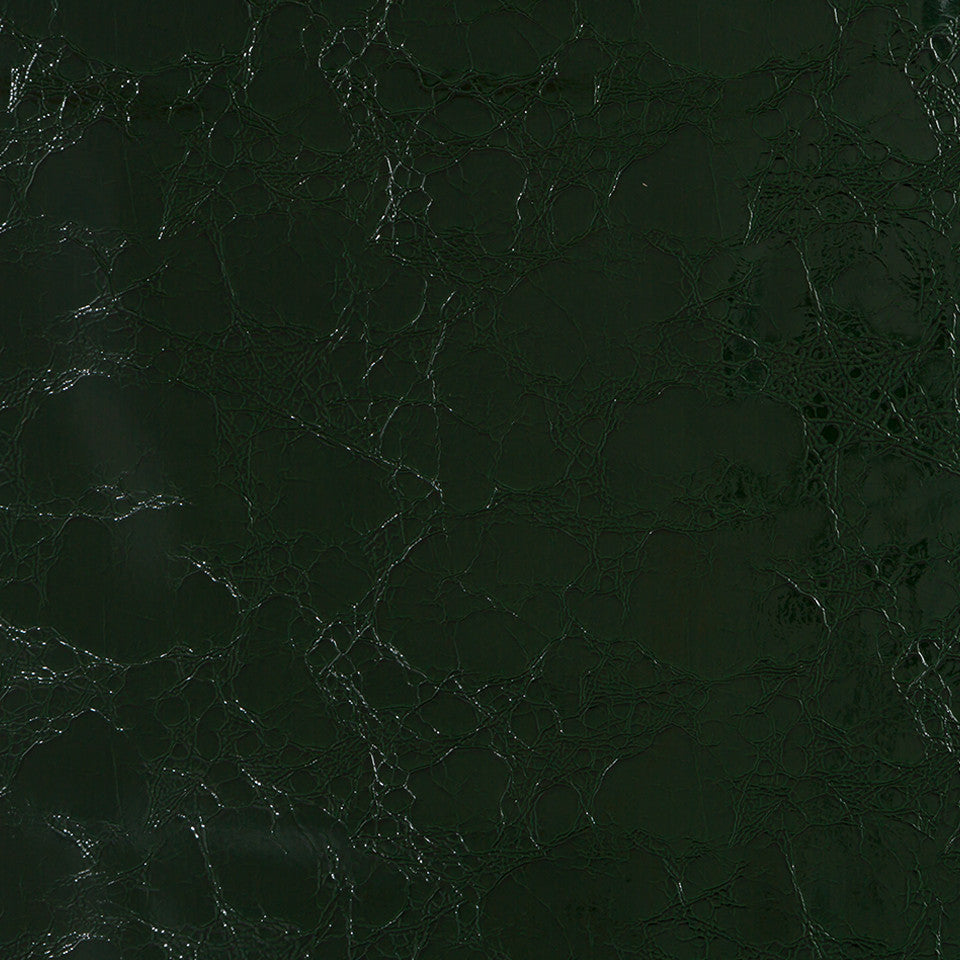 Faux Leather Textures Croc Couture Fabric - Billiard Green