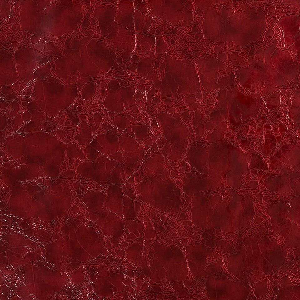 Faux Leather Textures Croc Couture Fabric - Lacquer Red