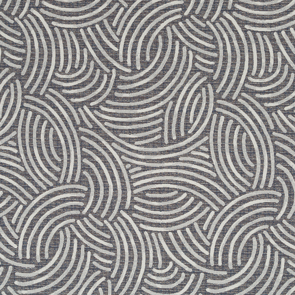 Luxe Natural Brush Effect Fabric - Indigo