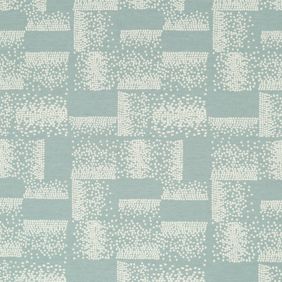 Luxe Natural Polished Pixel Fabric - Quartz