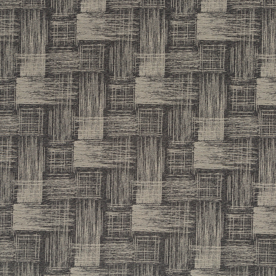 Luxe Natural Etched Texture Fabric - Onyx