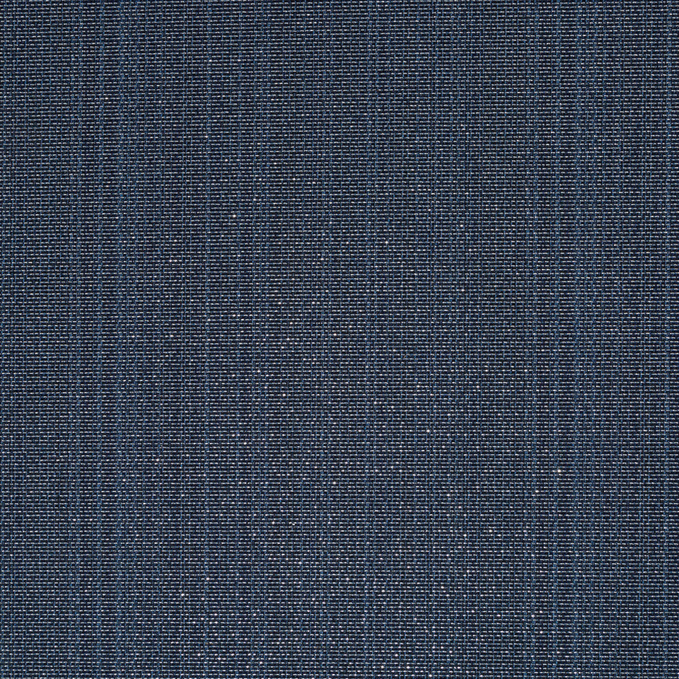 Luxe Natural Plated Grid Fabric - Indigo