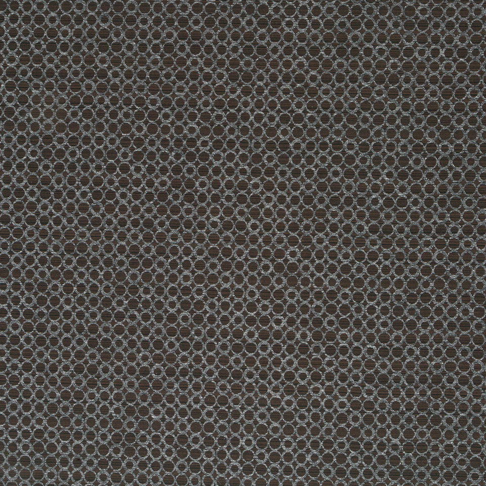Luxe Natural Circle Rivets Fabric - Onyx