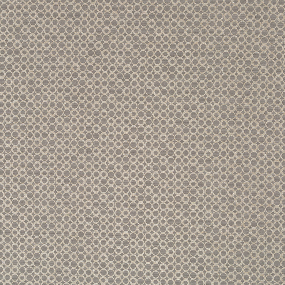 Luxe Natural Circle Rivets Fabric - Slate