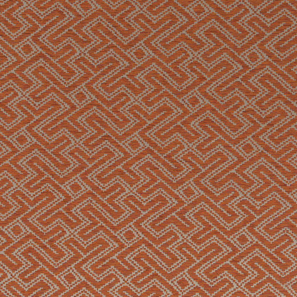 Luxe Natural Mitered Maze Fabric - Carnelian