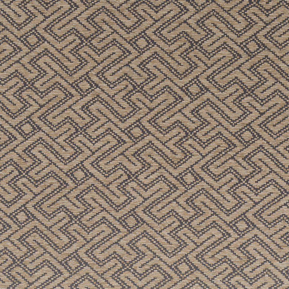 Luxe Natural Mitered Maze Fabric - Stardust