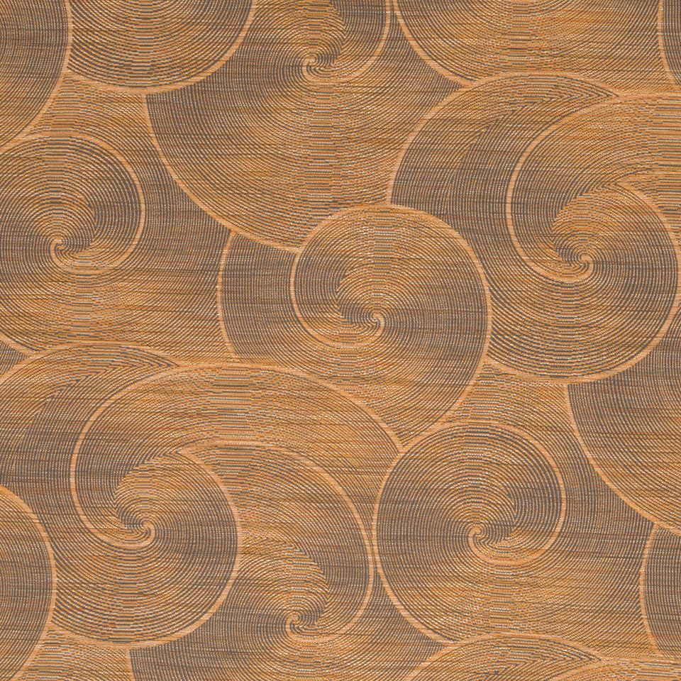 Luxe Natural Hewn Spiral Fabric - Carnelian