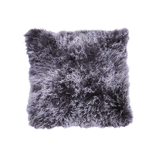 Tibetan Lamb Pillow - Frost Gray