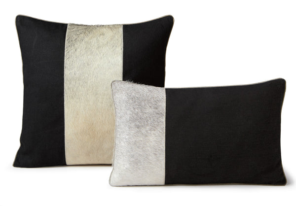 Midnight Cowhide Pillow