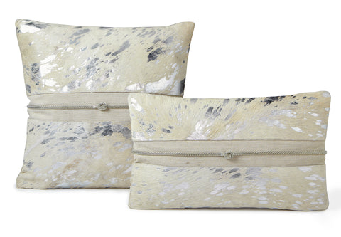 Blanc Cowhide Pillow