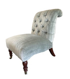 Grey Velvet Striped Chair