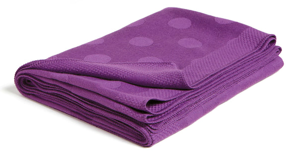 Polka Dot Throw - Plum
