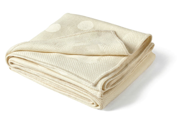 Polka Dot Throw - Ivory