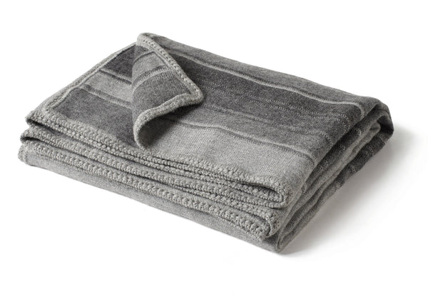 Striped Throw - Gray