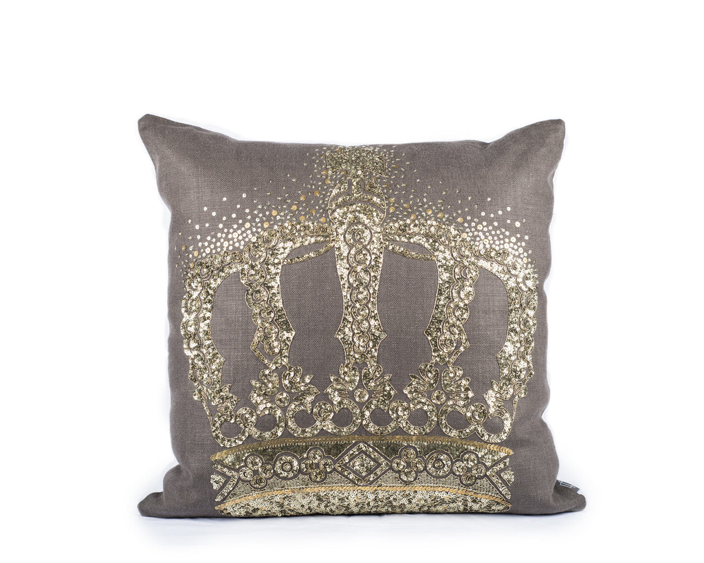 Regal Crown Pillow - Large
