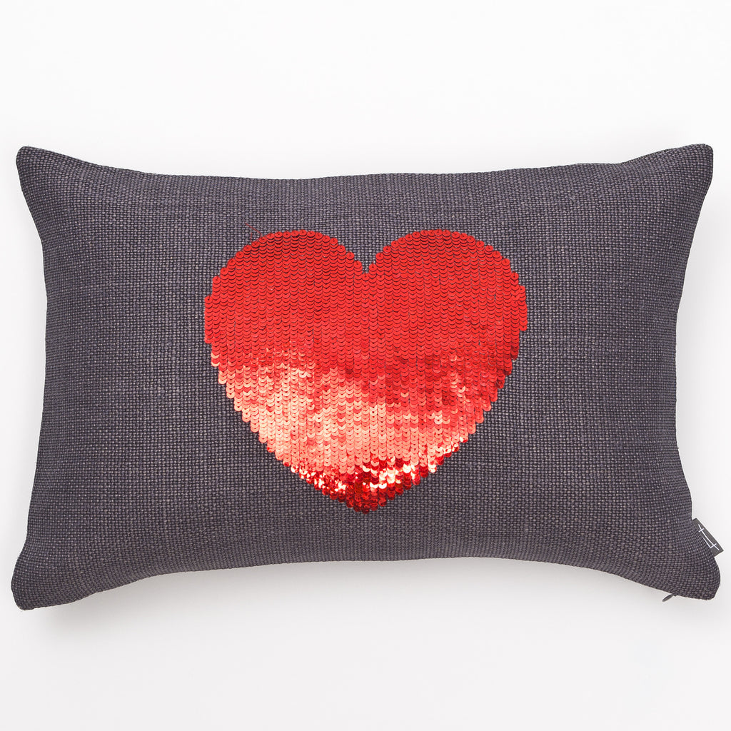 Sequin Heart Pillow