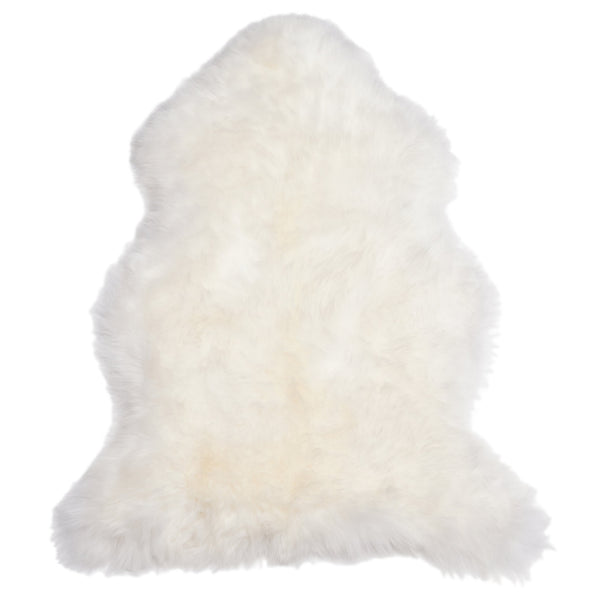 Single Sheepskin Throw Rug - Ivory