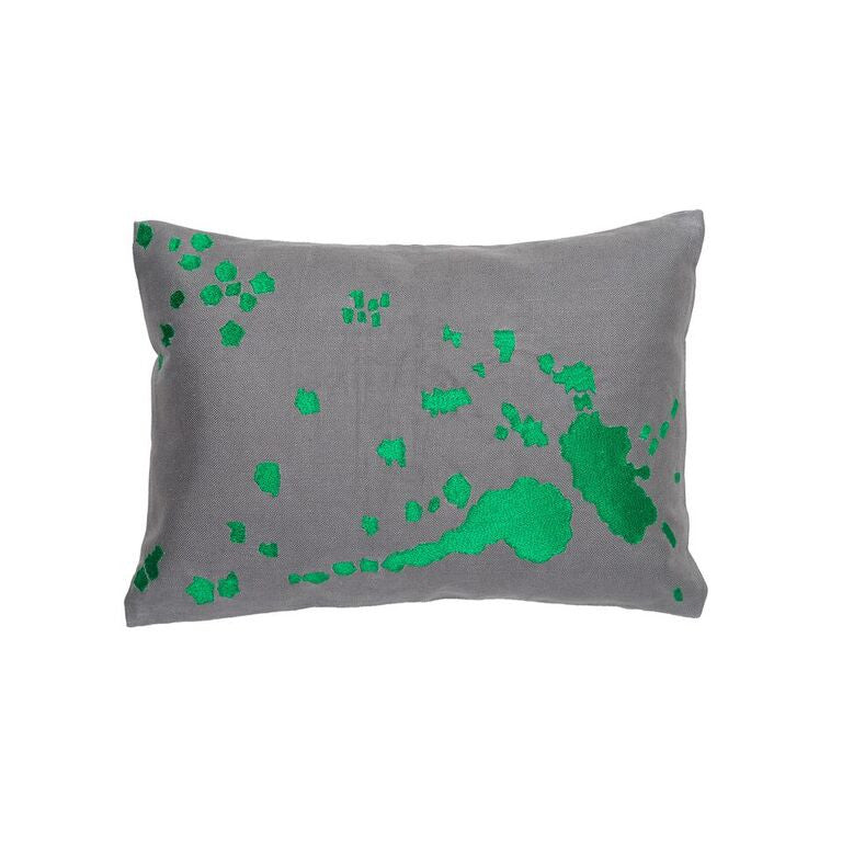 Burst Pillow - Emerald Green