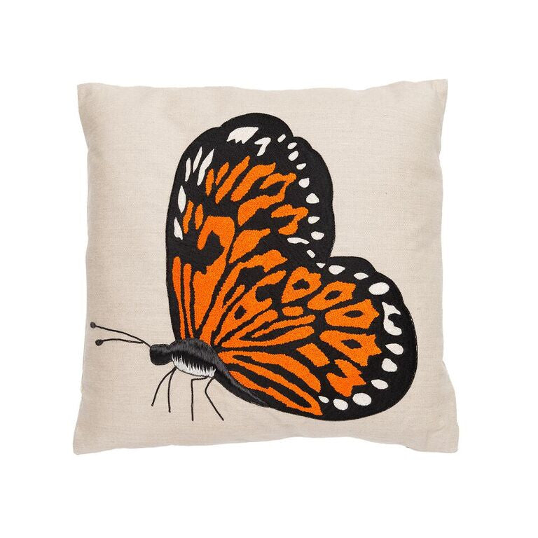 Butterfly Pillow - Orange