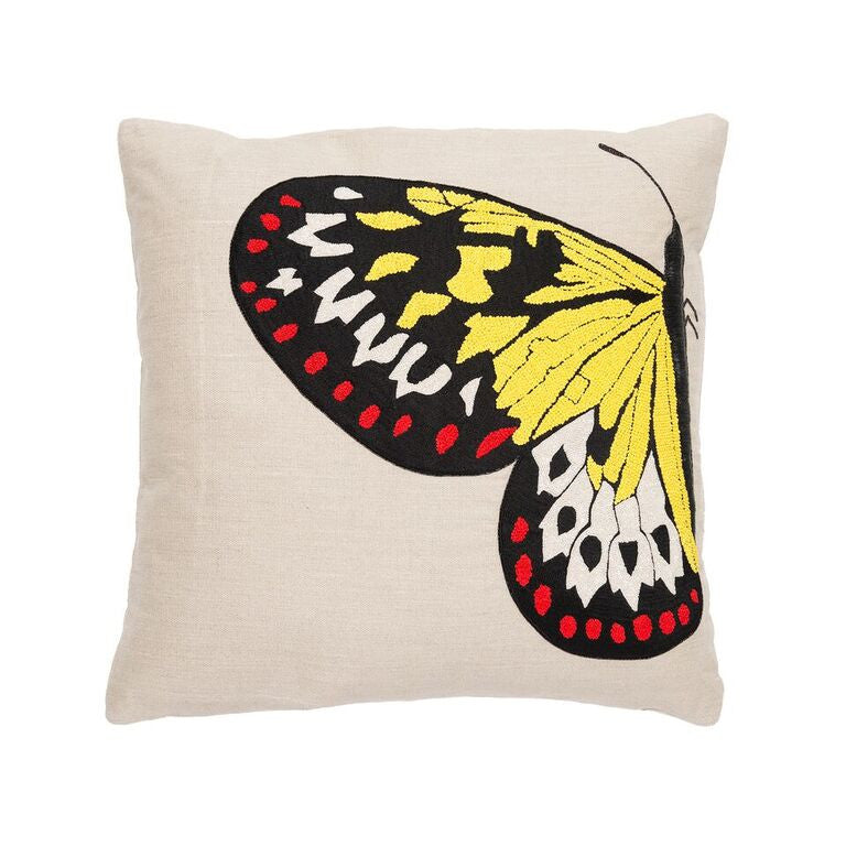 Butterfly Pillow - Red & Yellow