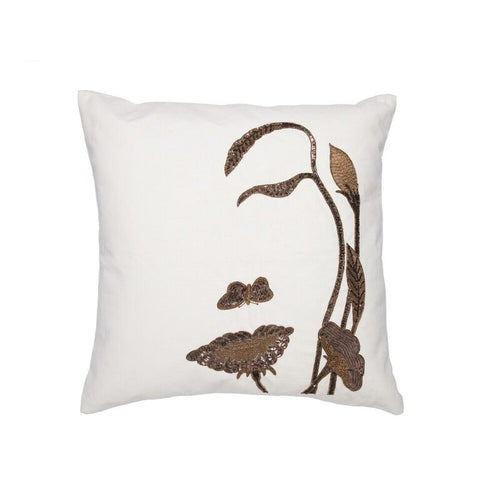 Faces of Nature Pillow - Copper