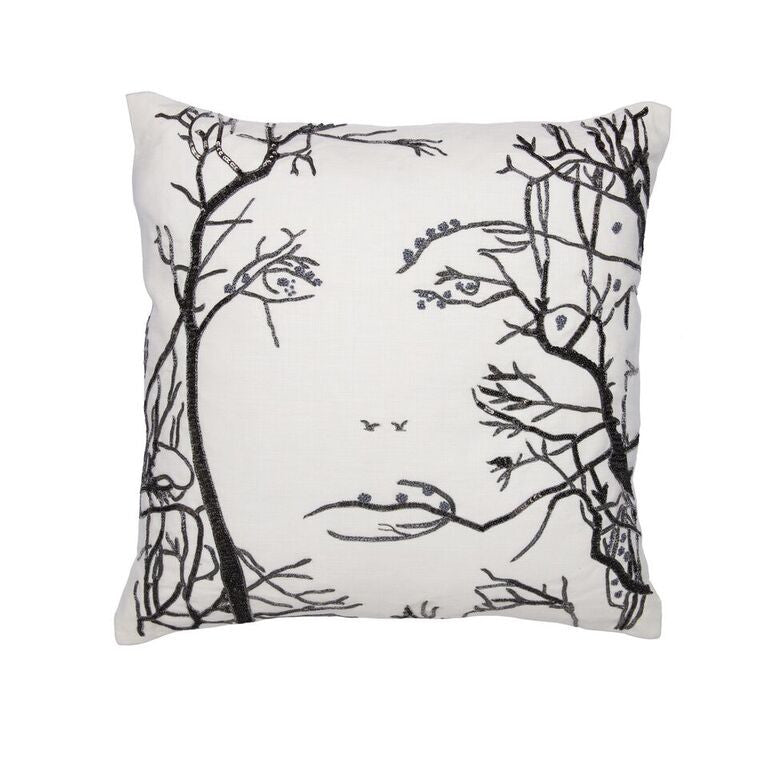 Faces of Nature Pillow - Gunmetal Grey