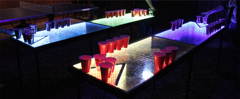 Infinity Glow LED lights Beer Pong Table